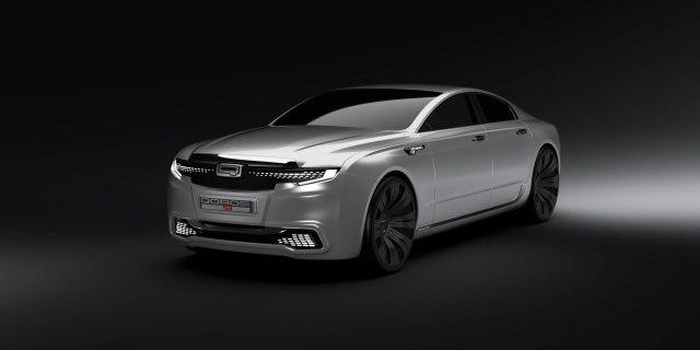 Design student's Qoros 9 Sedan Concept (front)