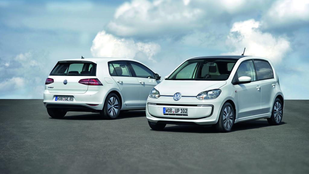 Der neue Volkswagen e-Golf und der neue Volkswagen e-up