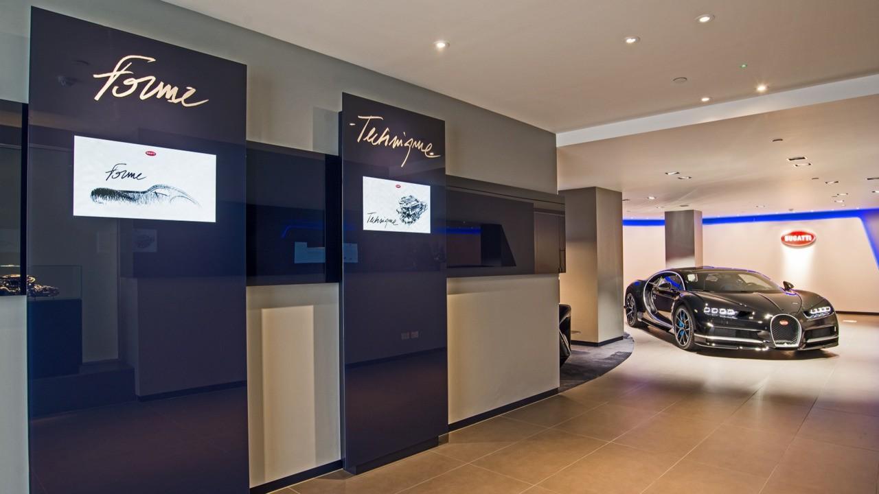 ¿Te imaginas cómo es un concesionario donde venden un Bugatti Chiron? Deja de imaginar