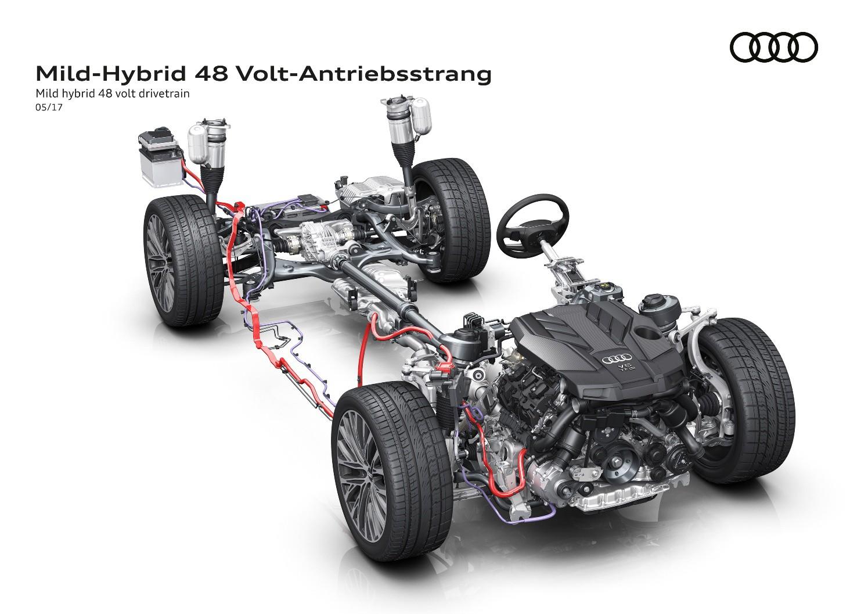 El nuevo Audi A8 equipará de serie un sistema de propulsión eléctrico