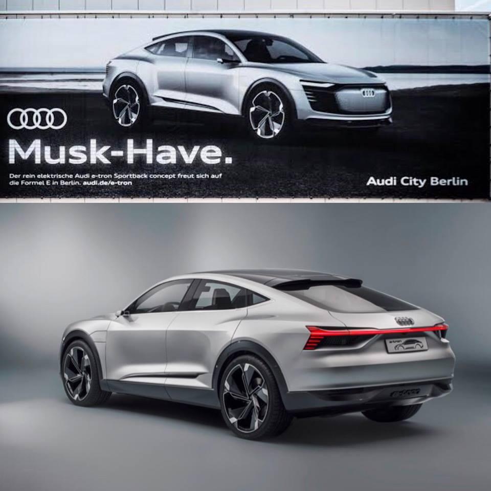 publicidad Audi E-tron Sportback
