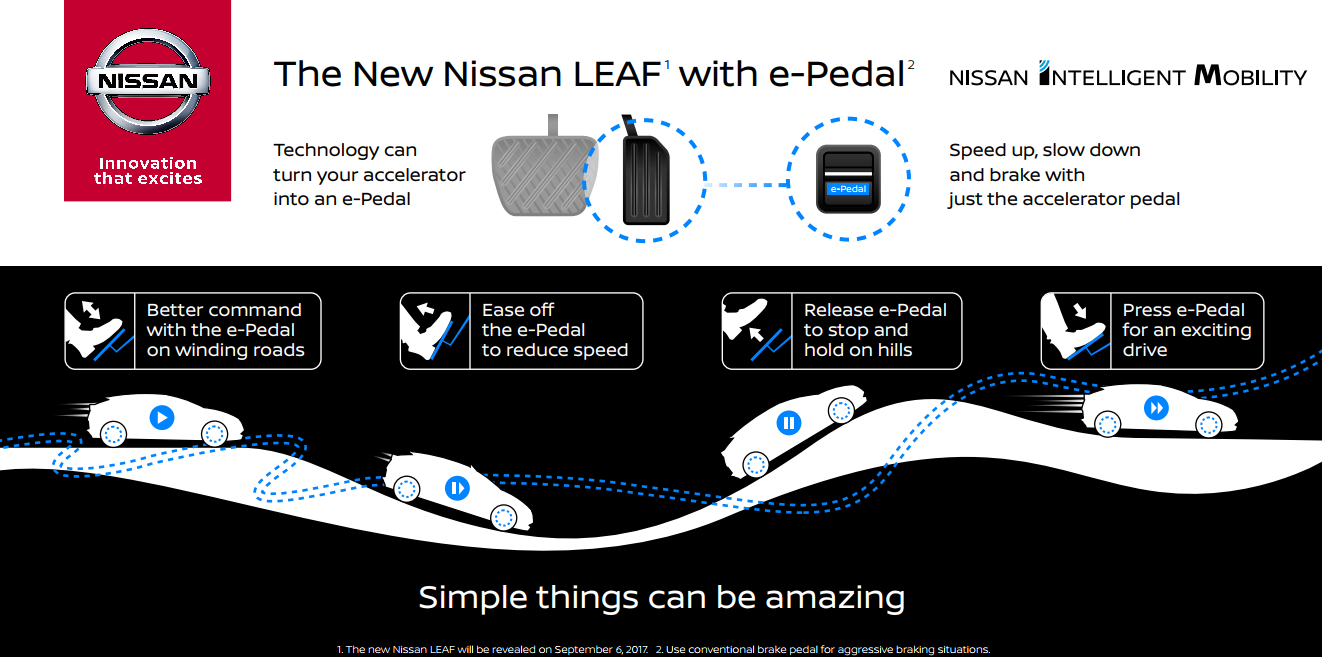 Nissan Leaf e-Pedal