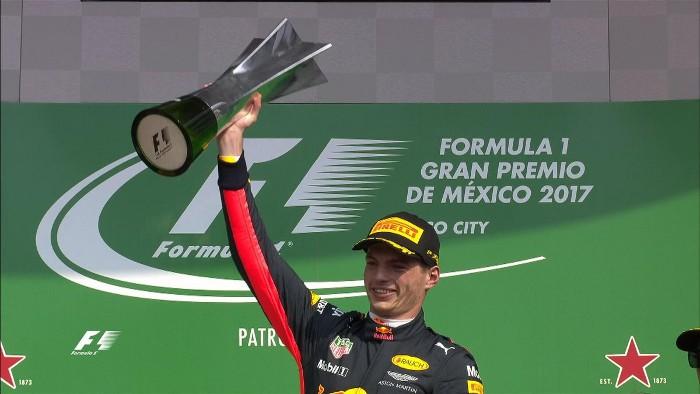 Verstappen ganó en el Gp de México de F1