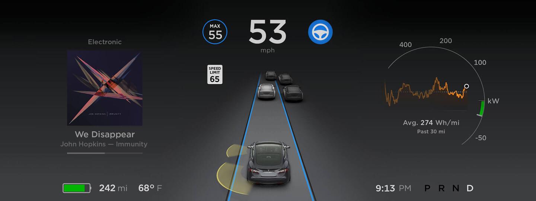 Tesla Autopilot reacción cuando conductor no está a los mandos