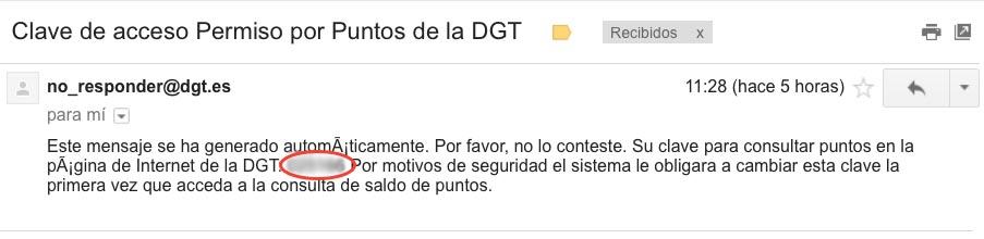 Consultar puntos DGT