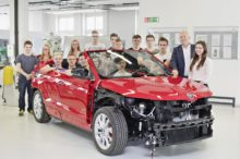 El Skoda Karoq Cabrio se convierte en un prototipo gracias a los pupilos de la marca