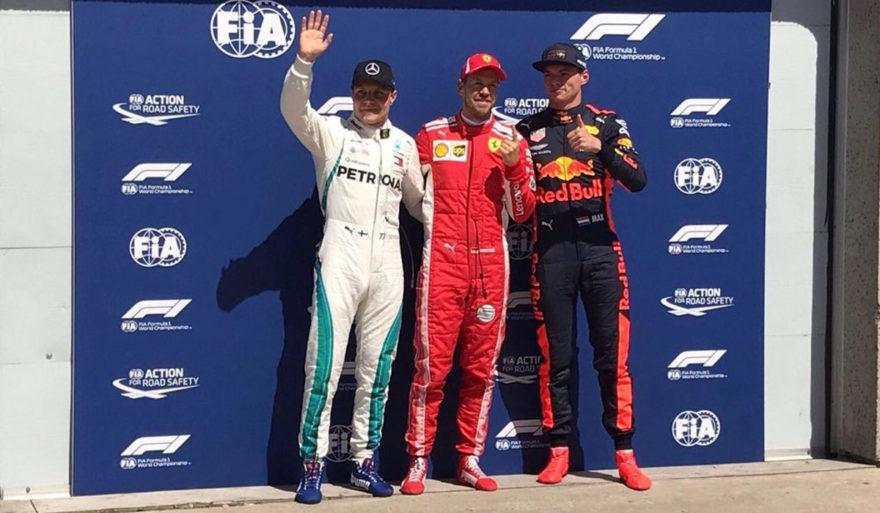 Vettel, Bottas y Verstappen fueron los mejores en Montreal