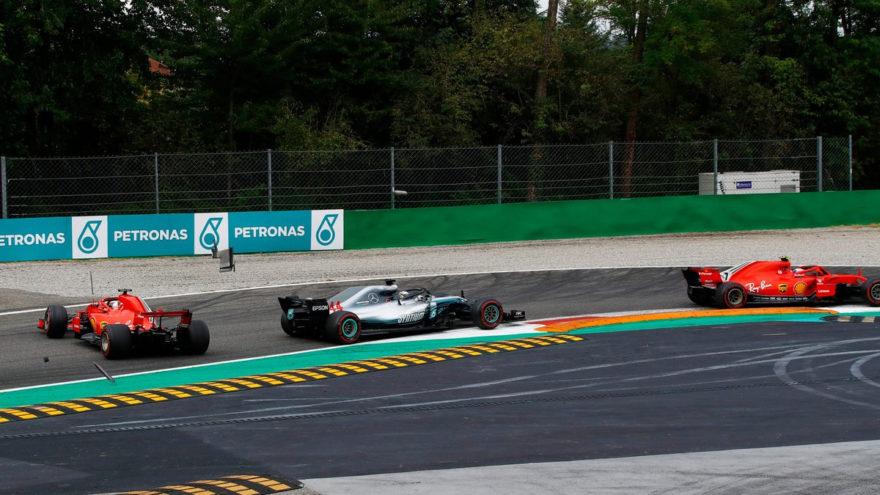 El toque entre Hamilton y Vettel del GP Italia 2018