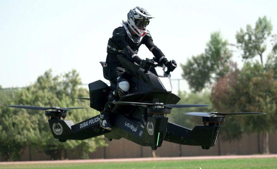 Moto Voladora de la policía de Dubái