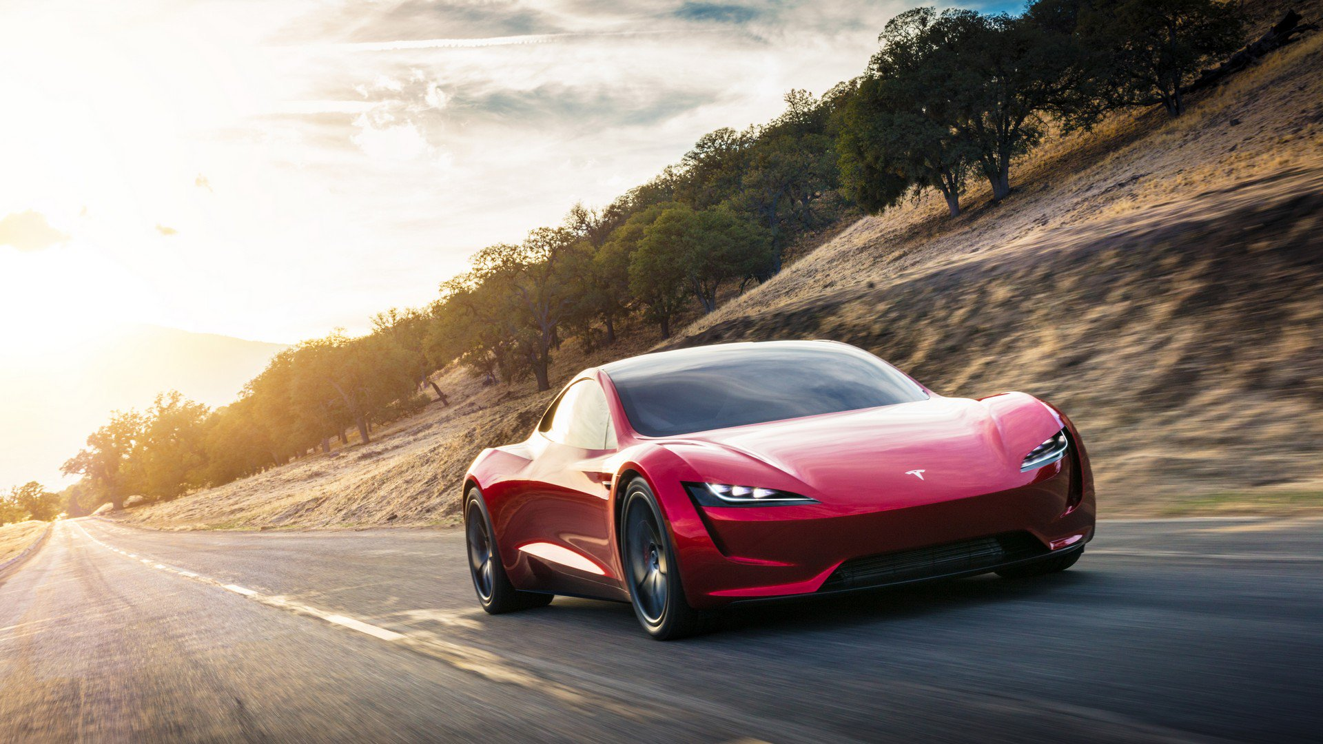 Tesla Roadster Volador