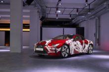 El Lexus LC 500h se convierte en una obra de arte sobre ruedas gracias a un grupo de diseñadores