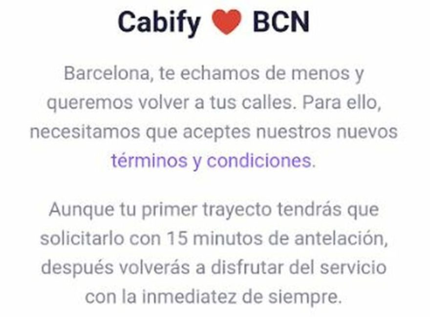Bienvenida Cabify