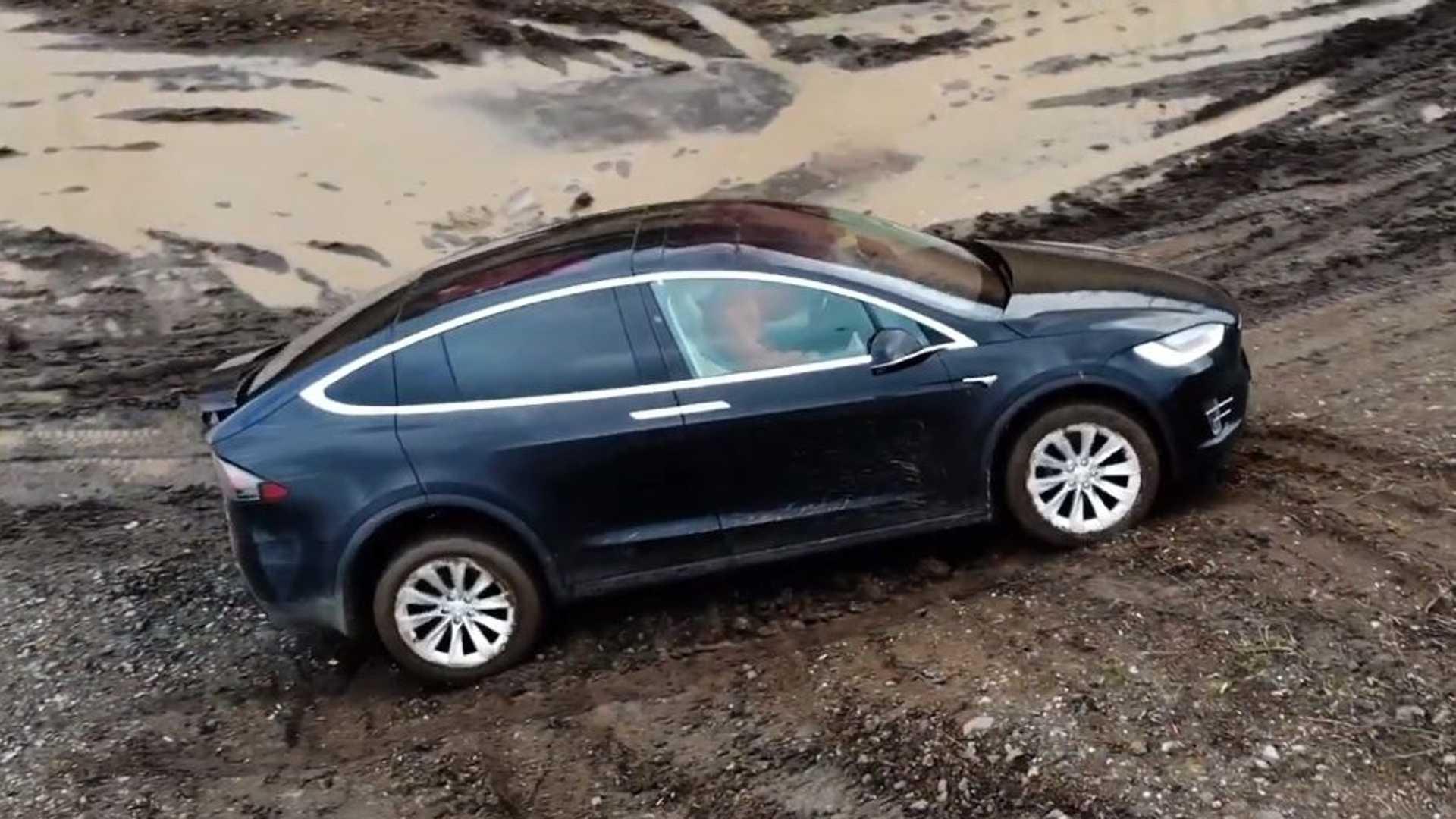 Tesla Model X Off Road Video