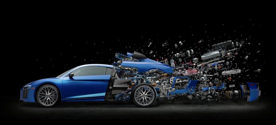 Audi R8 Video Despiece Motor Arte 01