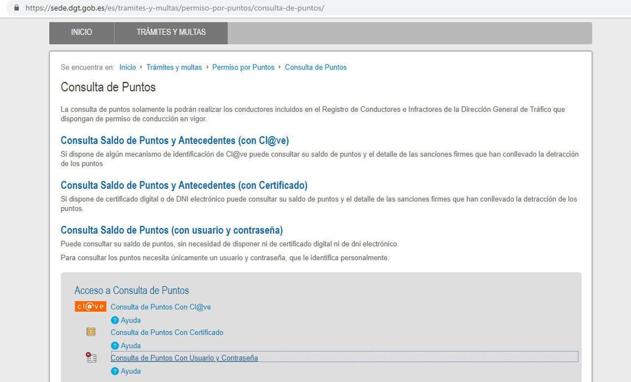 Web Dgt Carnet Puntos