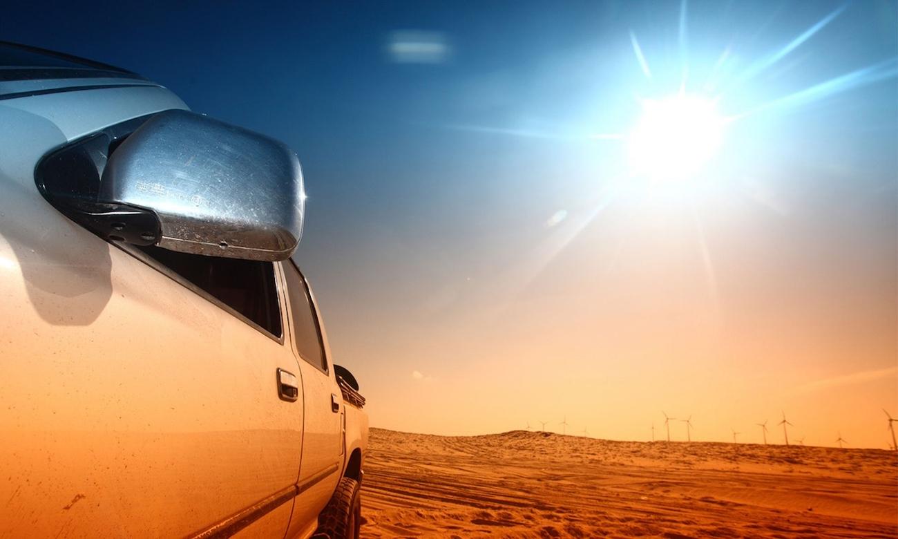 aparcar coche al sol