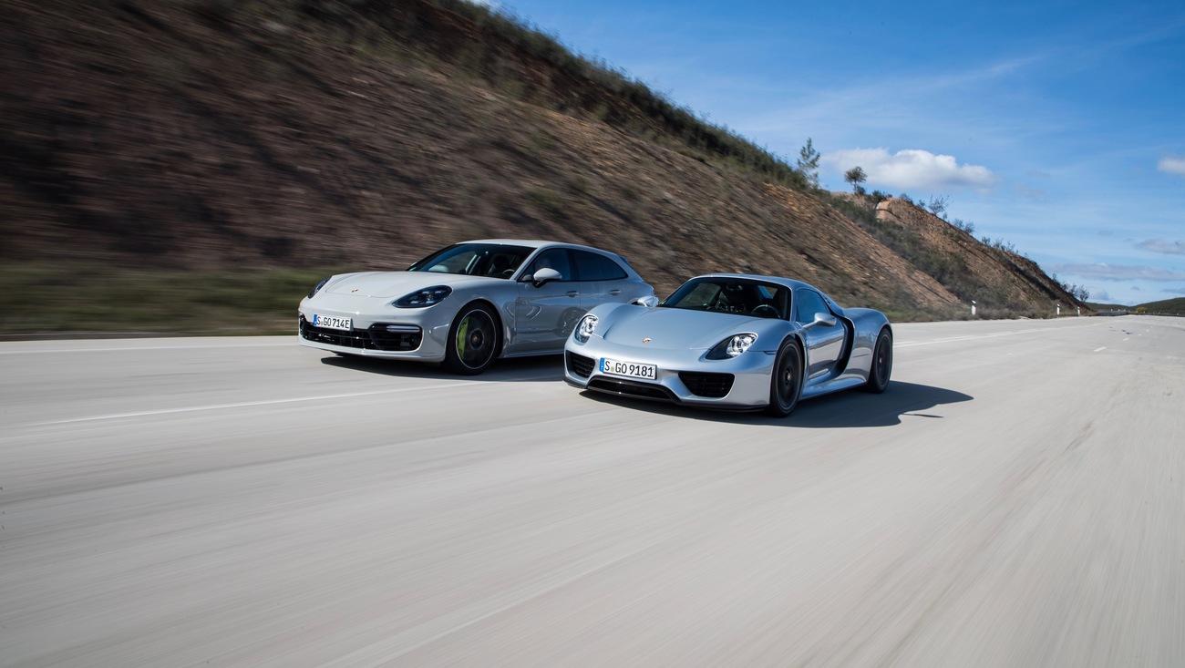 Porsche Panamera Turbo S E Hybrid Sport Turismo 918 Spyder L R Portimao 2018 Porsche Ag