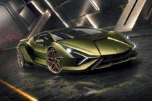 El Lamborghini Sián se presenta antes de su debut en el Salón de Frankfurt