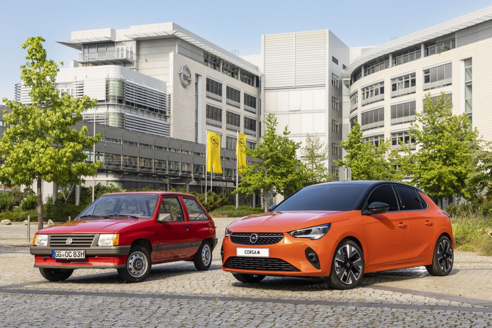 Opel Corsa E (2019) & Opel Corsa Luxus (1983)