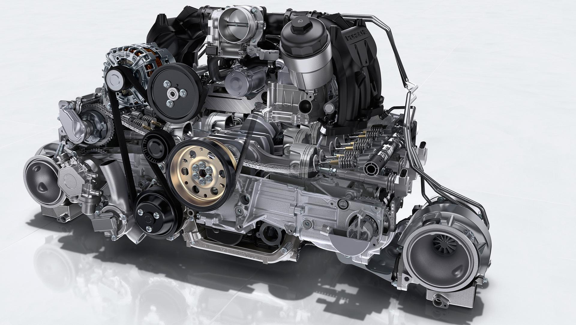911 Gt2 Rs 3 8 Litre Six Cylinder Twin Turbo Boxer Engine 2017 Porsche Ag