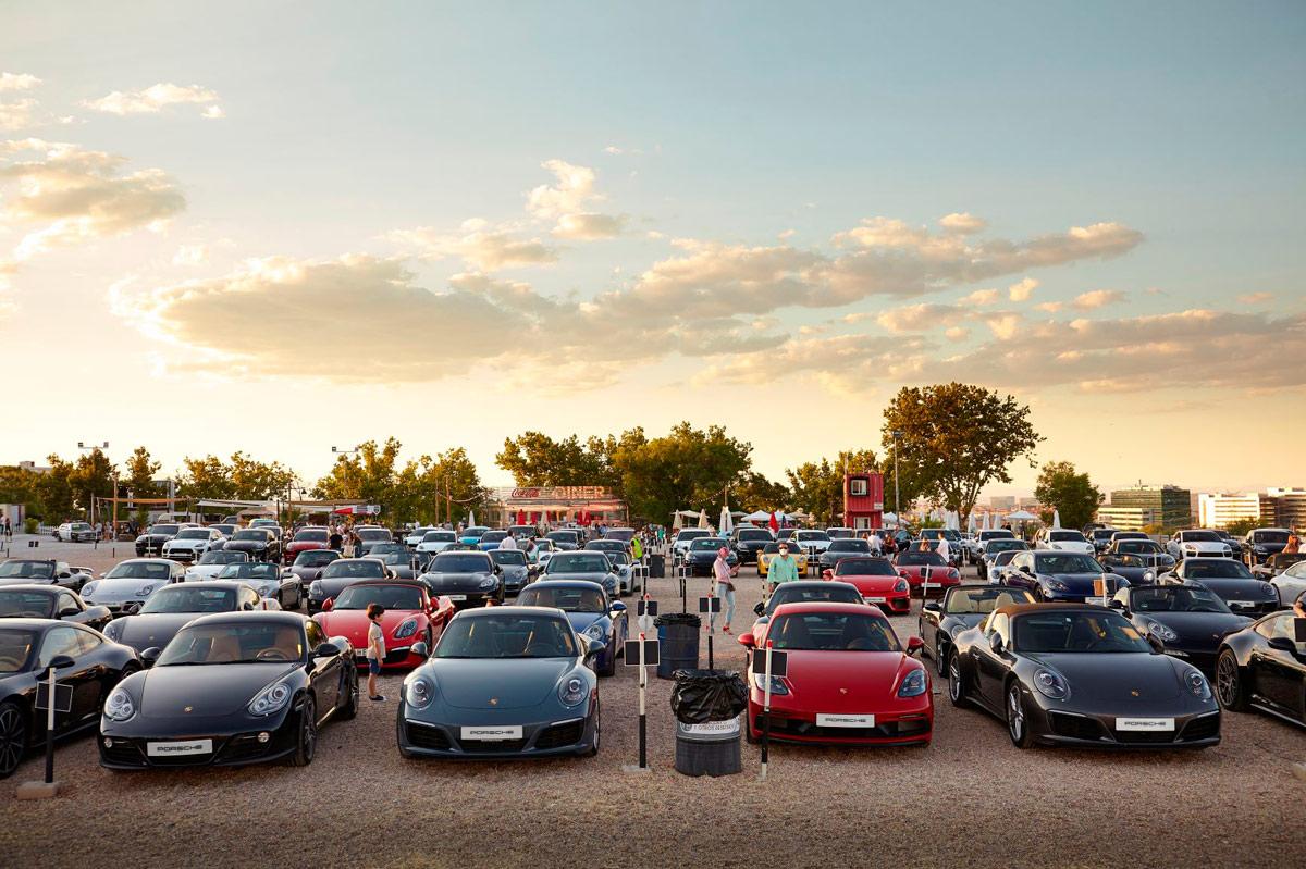 Autocine Madrid Evento Porsche
