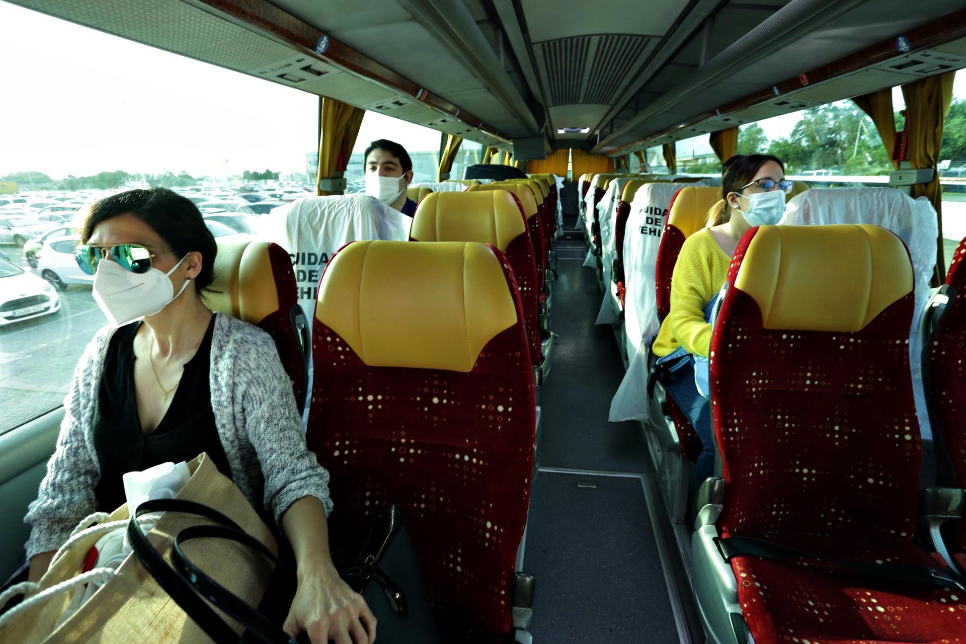 Mascarillas Coronavirus Autobus Ford