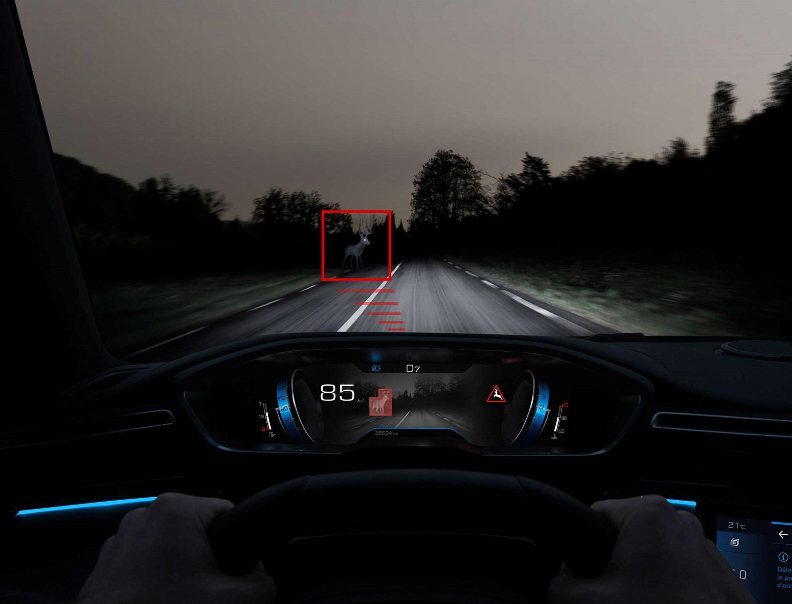 Peugeot Night Vision Asistencia Conduccion (1)
