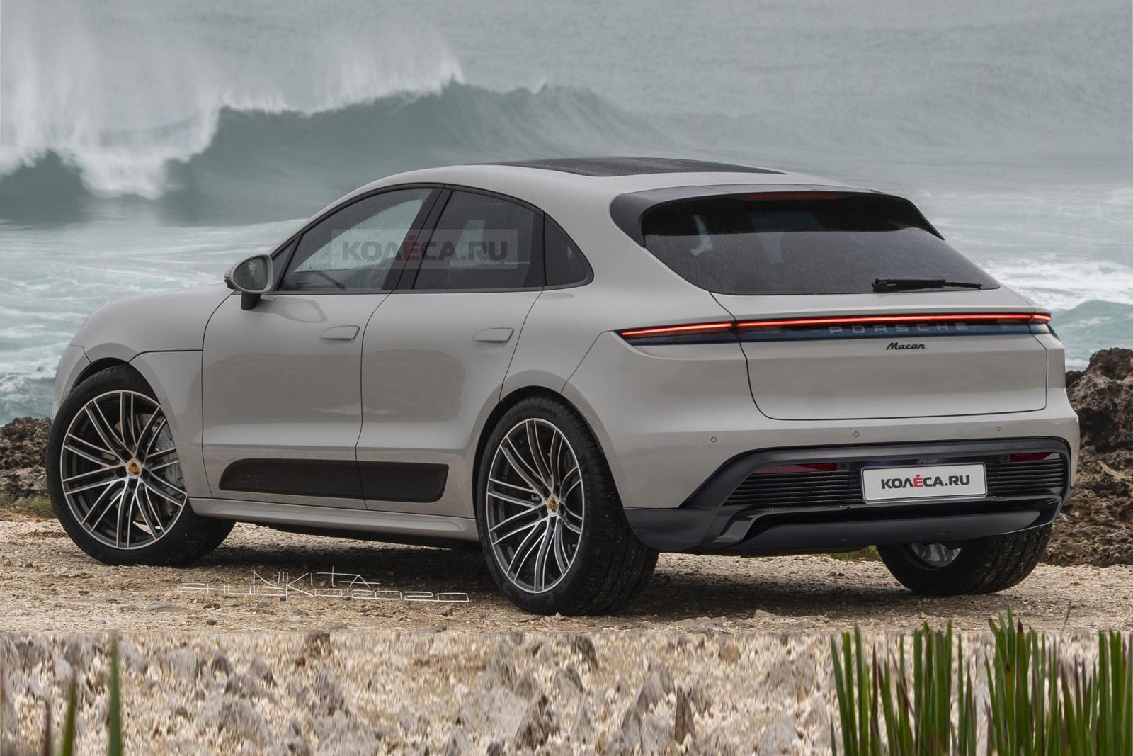 Porsche Macan Electrico Render Diseno 2
