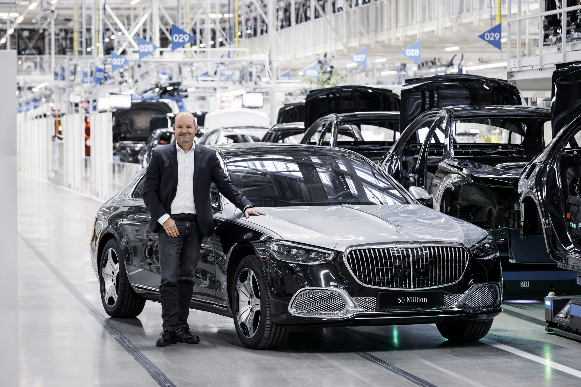 2021 Mercedes Maybach S Class 50 Million Car Production Milestone 6