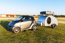YGONOW Teardrop Cocoon: así es la caravana más pequeña del mercado que puede remolcar hasta un Smart