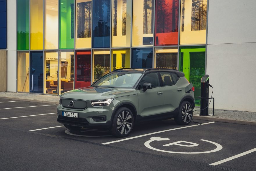 Xc40 Recharge Pure Electric P8 Sage Green Exterior Static