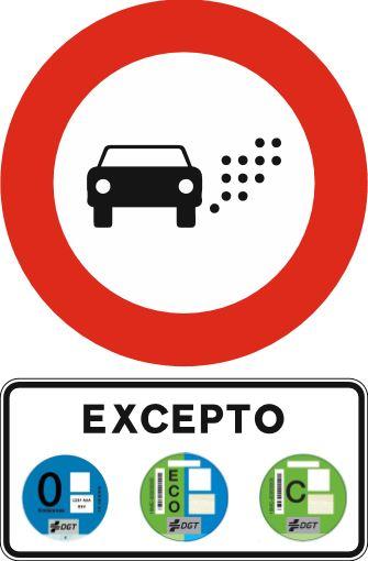 Señal Tráfico Zona Bajas Emisiones