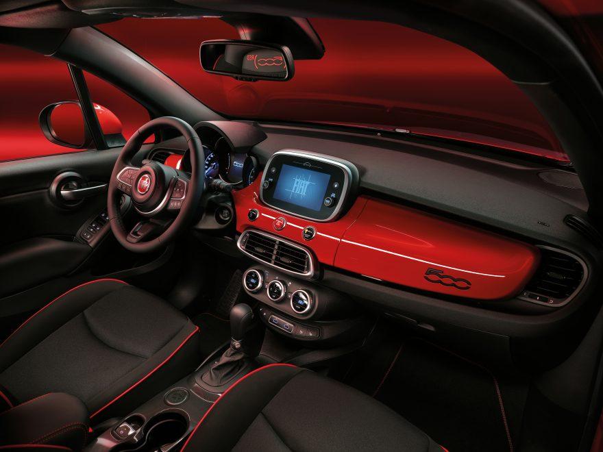 Fiat 500 Hybrid Red